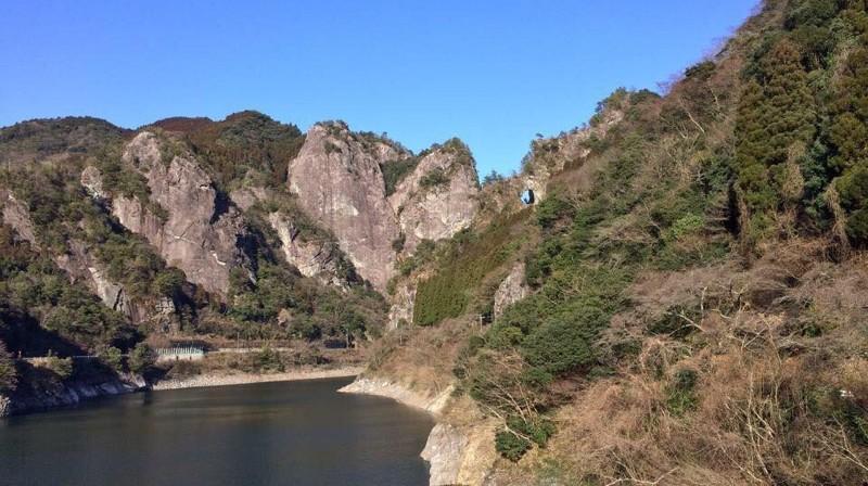 矢部村のハート岩