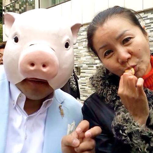 しゃれ豚のマネーの豚